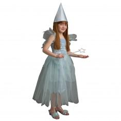 Déguisement Fée Océane avec baguette et chapeau : 8/10 ans