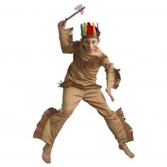 Déguisement Géronimo avec bandeau à plumes et tomahawk : 8/10 ans