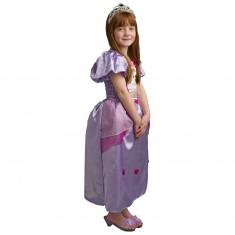 Déguisement Princesse Léa avec jupon et diadème : 8/10 ans