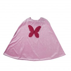 Cape de déguisement : Papillon rose clair