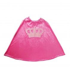 Cape de déguisement : Princesse rose foncé