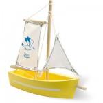 Barque à voile : Coque jaune