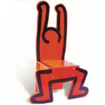 Chaise Keith Haring rouge