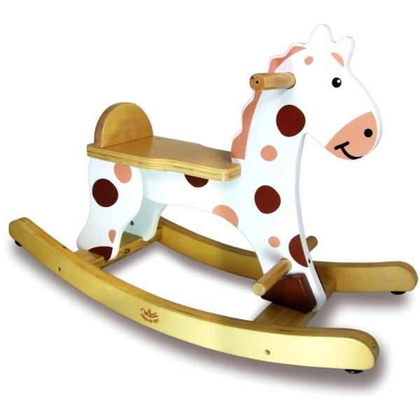 cheval bascule roudoudou blanc avec arceau amovible jeux et jouets vilac avenue des jeux. Black Bedroom Furniture Sets. Home Design Ideas