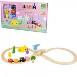 Circuit de train en bois : Barbapapa