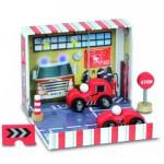 Coffret de pompier : Voiture et camion de pompier