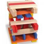 Cubes de construction : Batibloc couleur 100 pièces