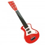 Guitare rock rouge et rose
