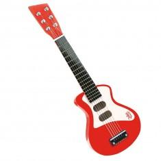Guitare rock rouge et rose