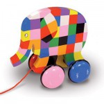 Jouet à tirer Elmer l'éléphant