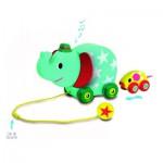 Jouet à tirer musical : L'éléphant et la souris