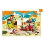 Puzzle 100 pièces en bois : Course de bolides