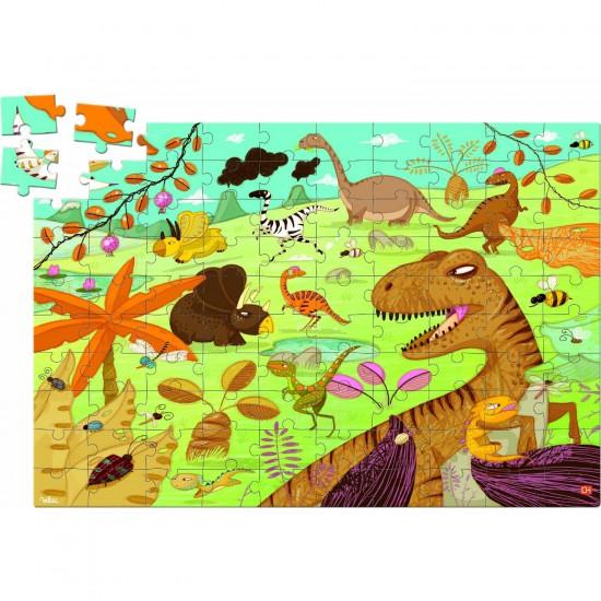 Puzzle 100 pièces en bois : Dinosaure - Vilac-2611