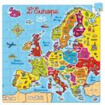 Puzzle 144 pièces en bois : Carte d'Europe