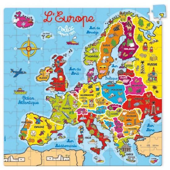 Puzzle 144 pièces en bois : Carte d'Europe - Vilac-2605