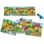 Puzzle 3 x 12 pièces : 3 puzzles ferme panoramiques