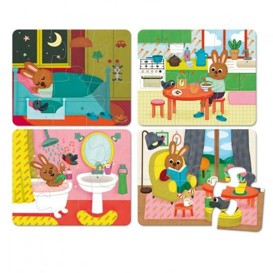 Puzzle 4 x 6 pièces : La maison - Vilac-2643