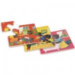 Puzzle 4 x 6 pièces en bois : Petit ours brun : La maison