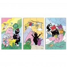 Puzzle 40 pièces : 3 puzzles Barbapapa