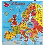 Puzzle 41 pièces en bois : Carte d'Europe magnétique
