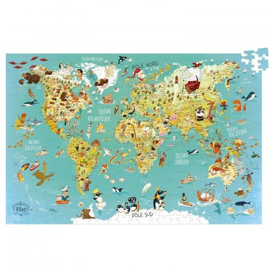 Puzzle 500 pièces : Carte du monde fantastique - Vilac-2722