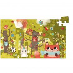 Puzzle 54 pièces en bois : Petit renard