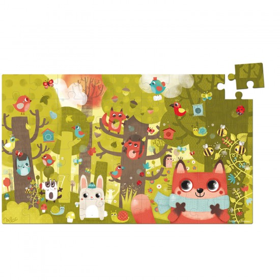 Puzzle 54 pièces en bois : Petit renard - Vilac-2652