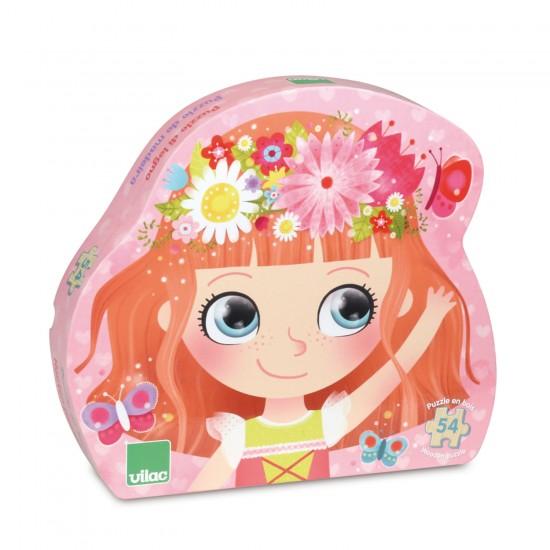 Puzzle 54 pièces en bois : Princesse des fleurs - Vilac-2651
