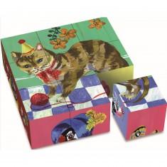 Puzzle 9 cubes Nathalie Lete