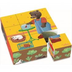 Puzzle 9 cubes Petit Ours Brun