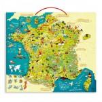 Puzzle 93 pièces magnétique en bois : Carte des merveilles de France