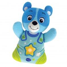 Peluche veilleuse Mon ourson à merveilles : Bleu