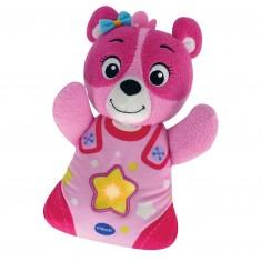 Peluche veilleuse Mon ourson à merveilles : Rose