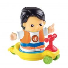 Véhicule et figurine Tut Tut Copains : Nico le rigolo
