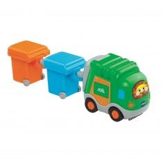 Véhicule Tut Tut Bolides : Joël le camion-poubelle