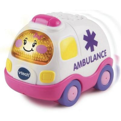 voiture tut tut bolides roses cl mence sos ambulance rose jeux et jouets vtech avenue des. Black Bedroom Furniture Sets. Home Design Ideas