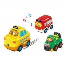 Tut Tut Bolides - Coffret trio city - taxi, bus et 4x4