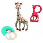 Set de naissance Sophie la girafe avec hochet et anneau de dentition