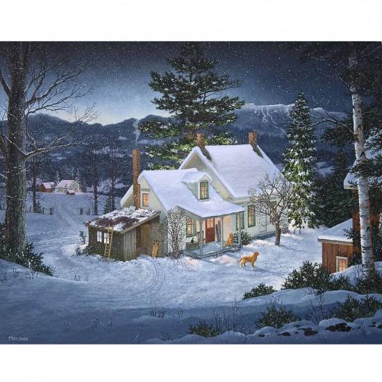 Puzzle 1000 pièces : Au beau milieu de l'hiver - White-907