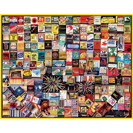 Puzzle 1000 pièces : Boîtes d'alumettes - White-869
