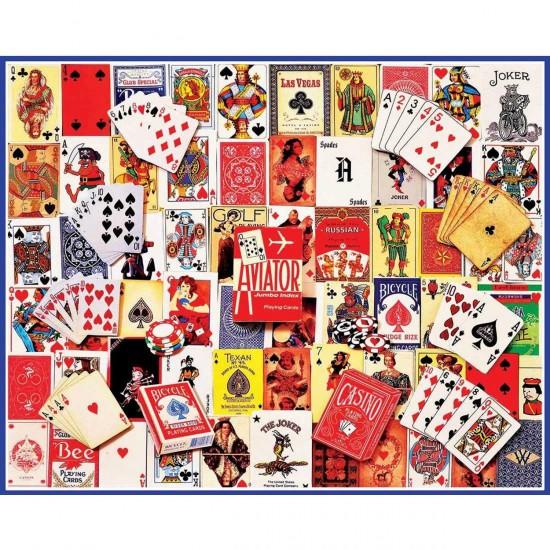 Puzzle 1000 pièces : Cartes à jouer - White-931