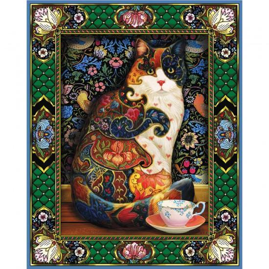Puzzle 1000 pièces : Chat peint - White-829