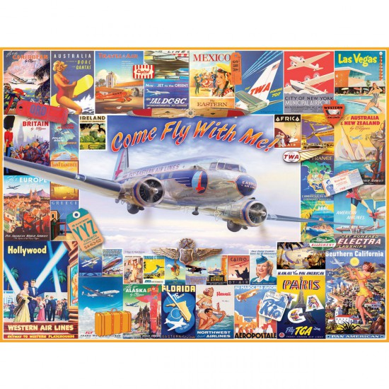Puzzle 1000 pièces : Come Fly with Me ! - White-1018