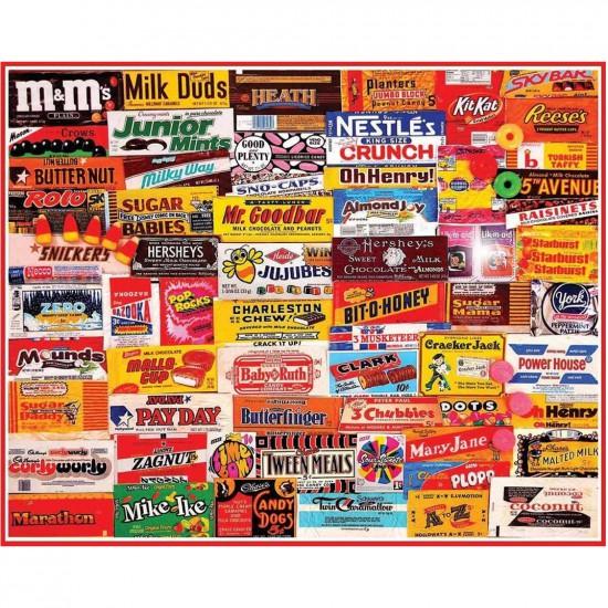Puzzle 1000 pièces : Etiquettes de confiseries - White-862