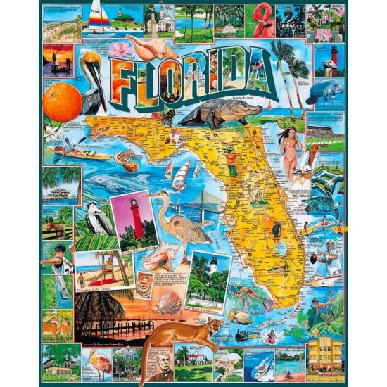 Puzzle 1000 pièces : Floride, USA - White-233
