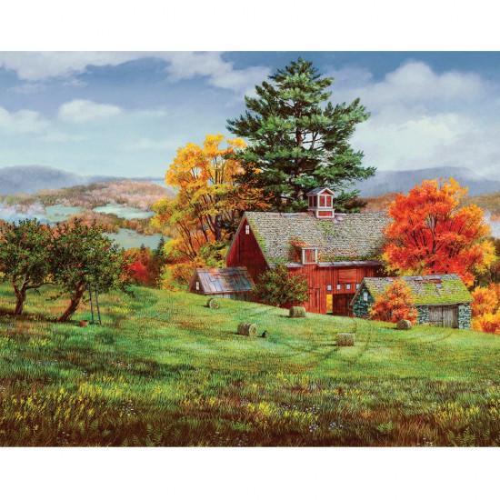 Puzzle 1000 pièces : Grange en automne - White-906