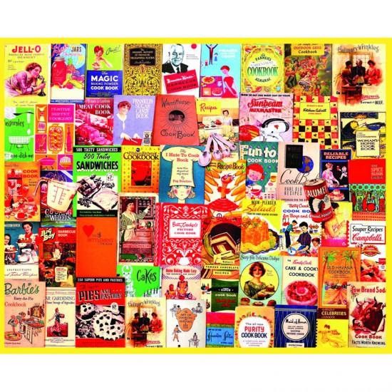 Puzzle 1000 pièces : Livres de cuisine - White-1013