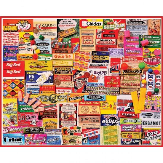 Puzzle 1000 pièces : Papiers de chewing-gums - White-885