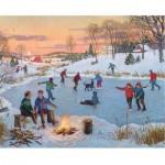 Puzzle 1000 pièces : Patinage sur le lac gelé