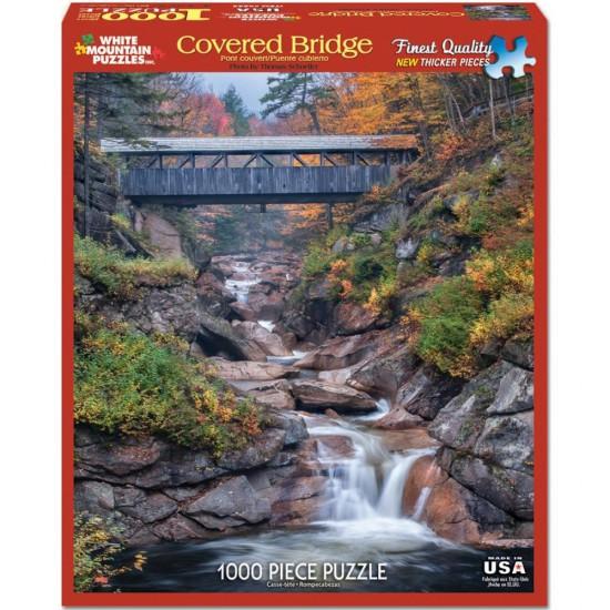 Puzzle 1000 pièces : Pont couvert - White-985